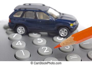 model car on financial calculator