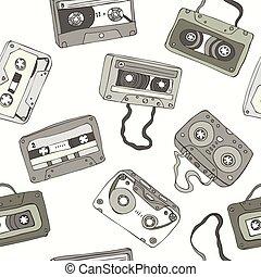 model, cassette, seamless, reepen, retro