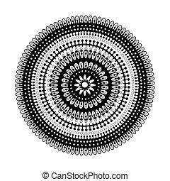 model, circulaire, black , kant, whi