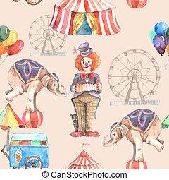 model, circus, seamless