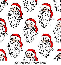 model, claus, seamless, kerstman, kerstmis