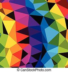 model, clip-art, kleurrijke, driehoeken, achtergrond.