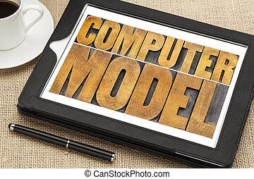 model, computer