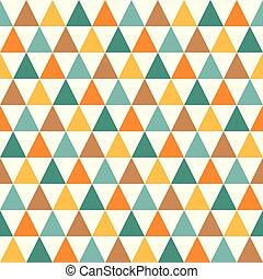 model, driehoek, retro, seamless
