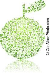model, ecologie, silhouette, appel