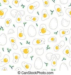 model, eitjes, witte achtergrond