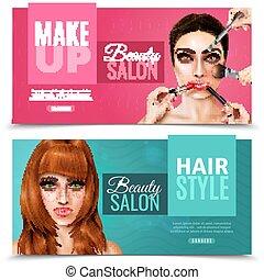 Model Face Salon Banners