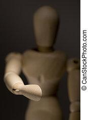 Model Figurine Extending Handshake