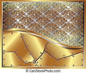 model, frame, 5, goud