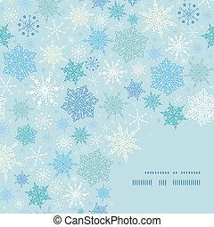 model, frame, sneeuw, vector, achtergrond, hoek, het vallen