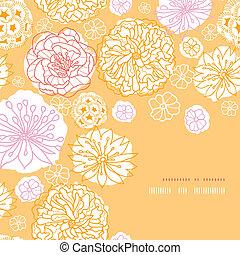 model, frame, warme, achtergrond, hoek, bloemen, dag