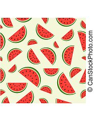 model, fris, watermeloen, seamless, sappig