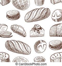 model, gebakje, seamless