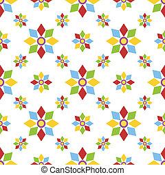 model, geometrisch, bloemen