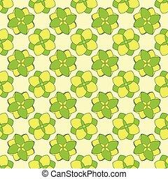 model, geometrisch, bloemen, groene