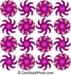 model, geometrisch, bloemen, seamless