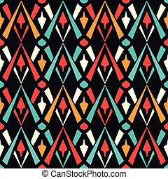 model, geometrisch, gekleurde, seamless