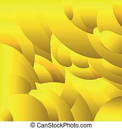 model, geometrisch, gele achtergrond