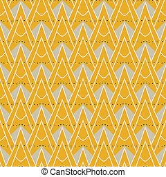model, geometrisch, moderne, driehoeken, 1930