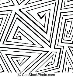model, geometrisch, monochroom, seamless