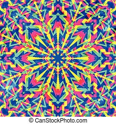 model, geometrisch, seamless, psychedelic