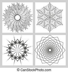 model, geometrisch, set., circulaire