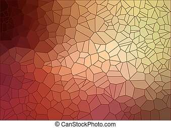 model, geometrisch, shapes., retro