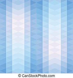 model, gestreepte , driehoeken, blauwe