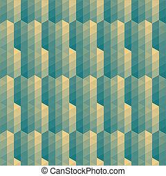 model, gestreepte , groene, driehoeken