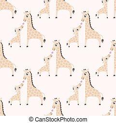 model, giraffe, seamless, spotprent