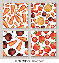 model, groentes, set, seamless