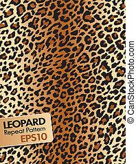 model, herhalen, leopard huid