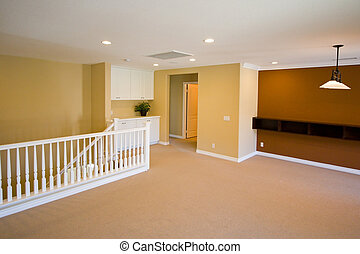 New model home interior showing paint & carpet