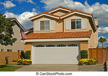 Model Homes - A new home in a new subdivision awaiting a new...