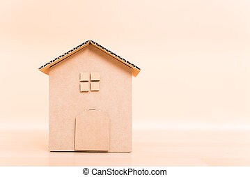 Model house cardboard paper