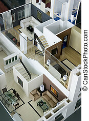 Model House Interior - Image of an architect\'s model house...