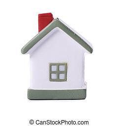 Model house isolated on white background