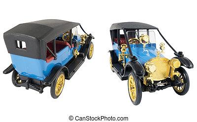 model, i, retro, automobilen