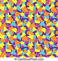 model, illustratie, stukken, gekleurde, vector