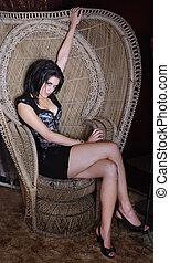 Model in a Corset