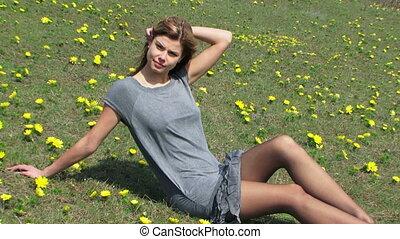 Model in a field