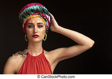 model in the image of an Eastern Princess