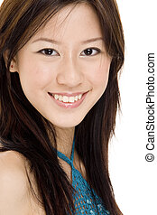 Model J3 - A close-up portrait of a pretty young asian woman