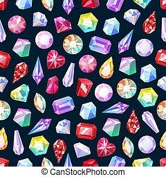 model, juwelen, gemstones, seamless