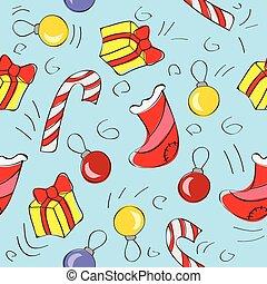 model, -, kerst decoraties, seamless