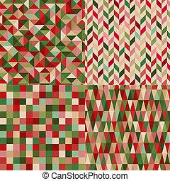 model, kleuren, seamless, kerstmis