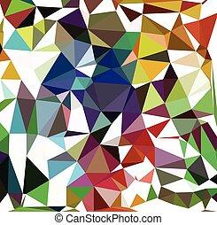 model, kleurrijke, driehoeken
