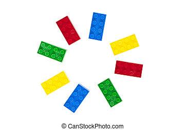 model, lego, circulaire