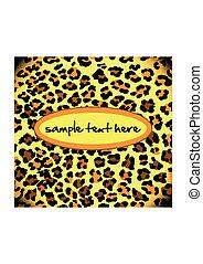 model, luipaard