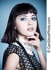 model, makeup